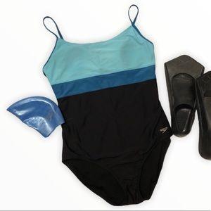 Speedo Colour Block Swimsuit